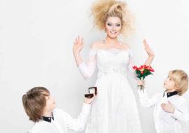 Елена Ленина в свадебном платье