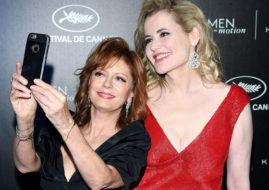 Сьюзан Сарандон и Джина Дэвис на Каннском кинофестивале