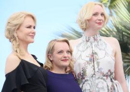 Актрисы Элизабет Мосс, Elisabeth Moss, Гвендолин Кристи, Gwendoline Christie, Николь Кидман, Nicole Kidman