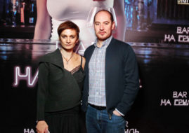 Ирина Вилкова и Армен Айрапетян на премьере веб-сериала «Бар «На грудь» / © Пресс-служба проекта
