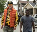 Уилл Феррелл (Will Ferrell) и Кевин Харт (Kevin Hart) на съемках комедии «Крепись!» (Get Hard) / © BagoGames / flickr