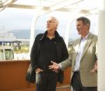 Джеймс Кэмерон (James Cameron) и продюсер Джон Ландау (Jon Landau) в развлекательном центре Titanic Quarter, Belfast / © Titanic Belfast / flickr