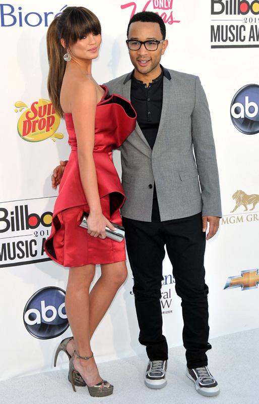Певец Джон Ледженд (John Legend) и модель Крисси Тейген (Chrissie Teigen) / © carrie-nelson / Shutterstock.com