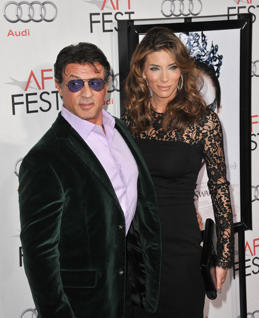 Актер Сильвестр Сталлоне (Sylvester Stallone) с женой Дженнифер Флавин (Jennifer Flavin) / Jaguar PS / Shutterstock.com