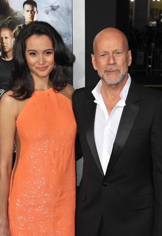 Актер Брюс Уиллис (Bruce Willis) и его жена Эмма Хеминг (Emma Heming) / Featureflash / Shutterstock.com