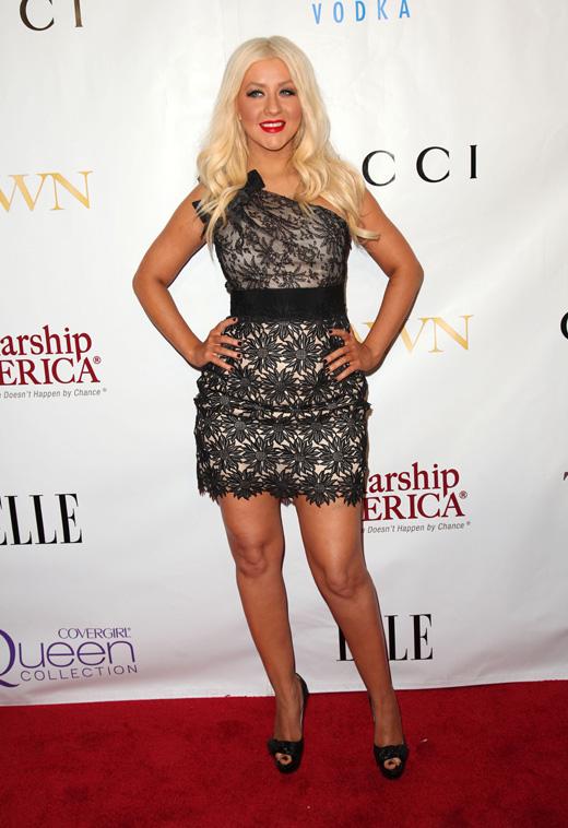 Певица Кристина Агилера (Christina Aguilera) / DFree / Shutterstock.com