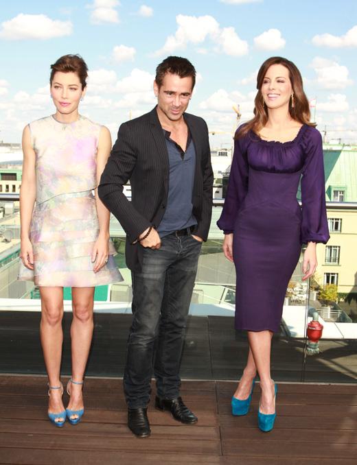 Джессика Бил (Jessica Biel), Колин Фаррелл (Colin Farrell) и Кейт Бекинсейл (Kate Beckinsale) / vipflash / Shutterstock.com