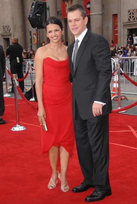 Актер Мэтт Дэймон (Matt Damon) с женой / © Featureflash / Shutterstock.com