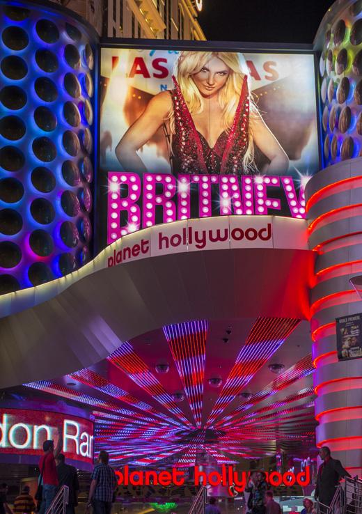 Реклама шоу Бритни Спирс (Britney Spears) в Лас-Вегасе / © Depositphotos.com / Kobby Dagan