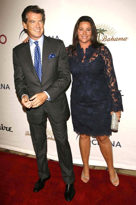 Пирс Броснан (Pierce Brosnan) с женой Кили Шэй Смит (Keely Shaye Smith) / © s_bukley / Shutterstock.com