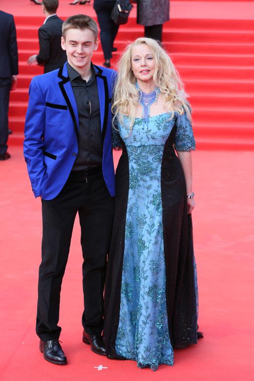 Елена Кондулайнен с сыном / © Пресс-служба Московского Международного Кинофестиваля