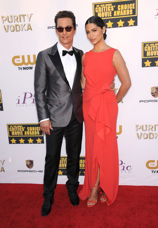 Мэттью Макконахи (Matthew Mcconaughey) и его жена Камила Алвес (Camila Alves) / © DFree / Shutterstock.com