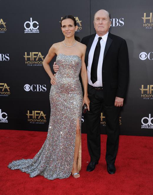 Роберт Дюваль (Robert Duvall) и его жена Лучана Педраса (Luciana Pedraza) / © DFree / Shutterstock.com
