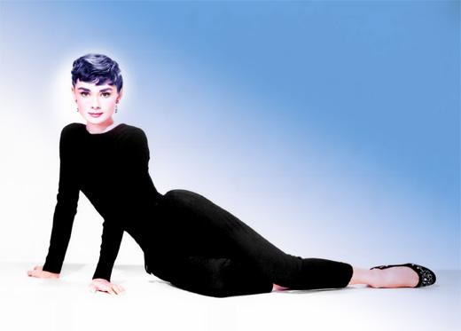 Цветная фотография актрисы Одри Хепберн