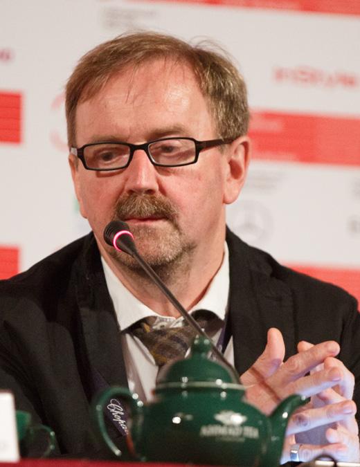 Петр Шепотинник на пресс-конференции ММКФ