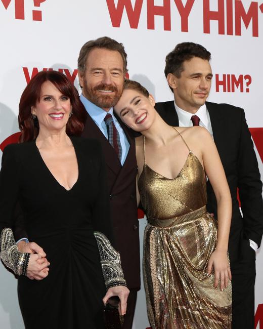 """Комедия """"Почему он"""" актеры Меган Маллалли (Megan Mullally), Брайан Крэнстон (Bryan Cranston), Зои Дойч (Zoey Deutch), Джеймс Франко (James Franco)"""