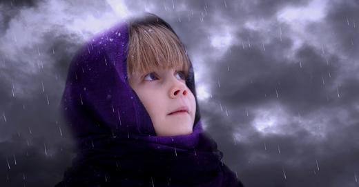 Одна зимой в детсаду
