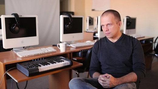 DJ Грув на съемках фильма