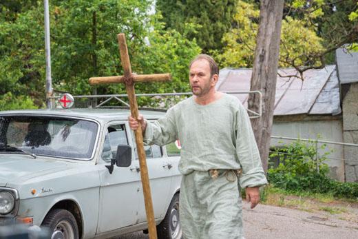 Алексей Гуськов на съемках фильма «Вечная жизнь»