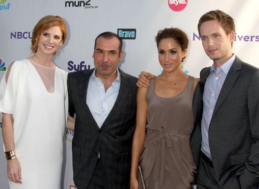 Меган Маркл с коллегами по сериалу