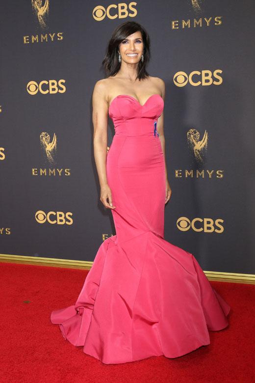 Актриса Падма Лакшми в розовом платье