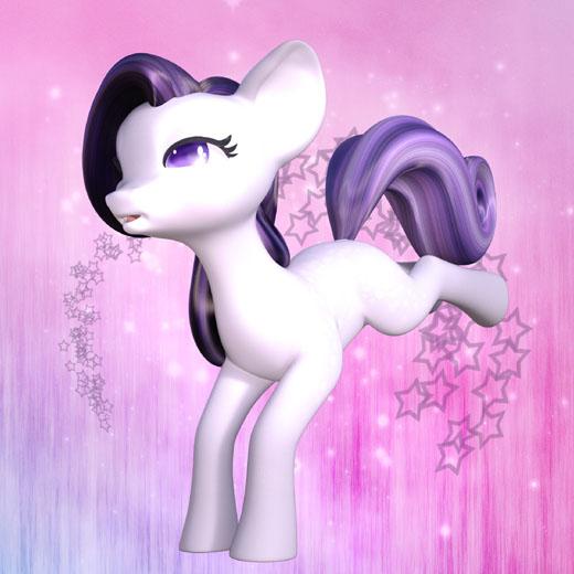 Любимая игрушка малыша - розовый пони