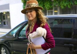 Келли Брук в шляпе