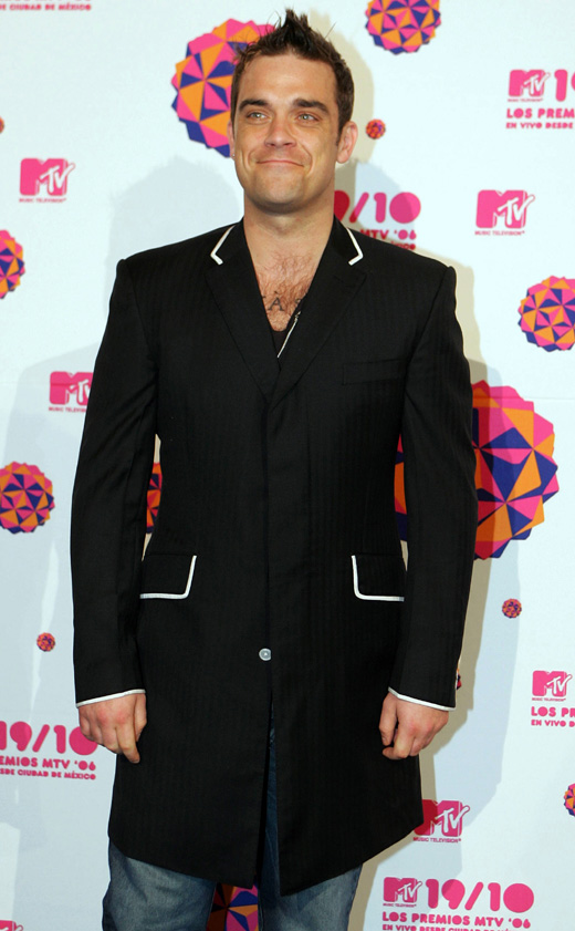 Британский певец Робби Уильямс