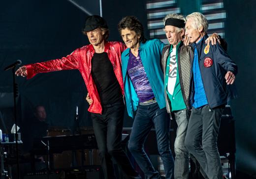 Британские рокеры из группы Rolling Stones