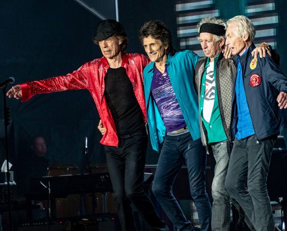 Мик Джаггер (Mick Jagger), Ронни Вуд (Ronnie Wood), Кит Ричардс (Keith Richards) и Чарли Уоттс (Charlie Watts) из группы Rolling Stones / © Raph_PH / flickr