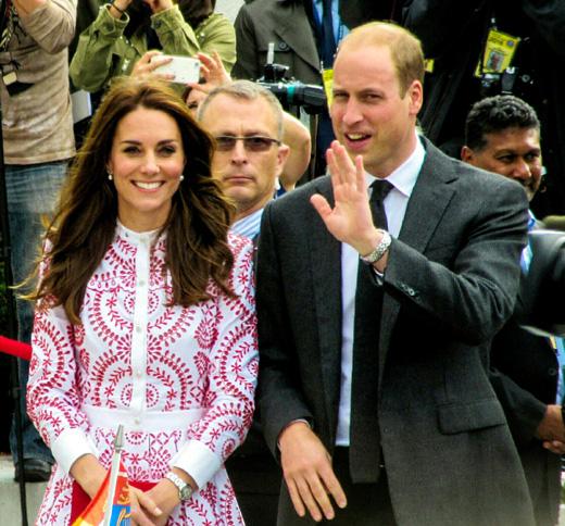 Герцогиня Кембриджская с мужем